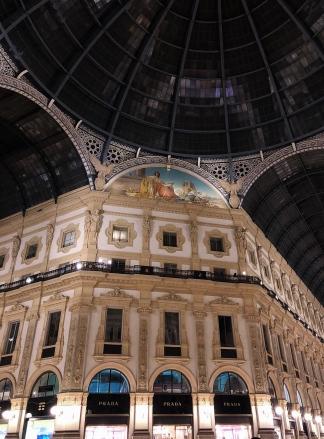 Galleria Vittorio Emanuele II from inside the arcade.