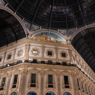 Galleria Vittorio Emanuele II from inside the arcade.